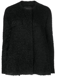 Giambattista Valli Short Boucle Coat Polyamide Polyester Mohair Virgin Wool Black
