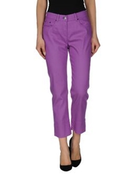 Les Copains Denim Pants Purple