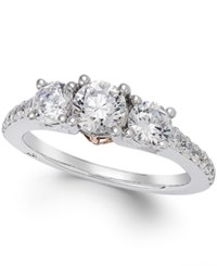 Marchesa Diamond Three Stone Ring 1 1 2 Ct. T.W. In 18K White Gold