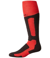 Thorlos Performance Fit Snowboard Racing Red Black Crew Cut Socks Shoes