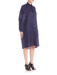 Junya Watanabe Oversized Ramie Shirtdress Navy