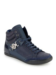 Roberto Cavalli Leather Lace Up Shoes Blue