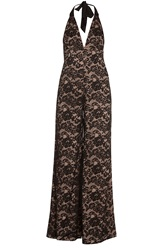Temperley London Newton Halter Lace Jumpsuit