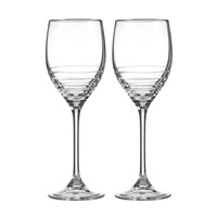 Vera Wang Wedgwood Grosgrain Platinum Wine Glasses Set Of 2