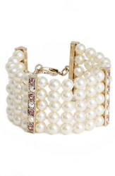 St. John Women's Collection Swarovski Imitation Pearl And Crystal Bracelet