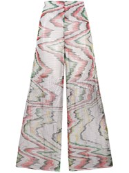 Missoni Mare Sheer Woven Flare Trousers White