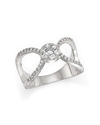 Bloomingdale's Diamond Two Stone X Band Ring In 14K White Gold .50 Ct. T.W.