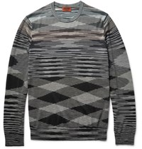 Missoni Space Dyed Wool Blend Sweater Gray