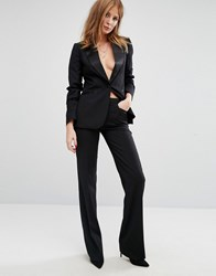 Millie Mackintosh High Waisted Flared Suit Pants Black