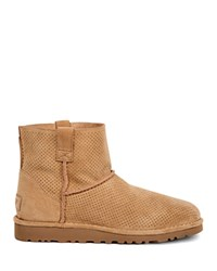 Ugg Classic Unlined Mini Perforated Booties Tawny