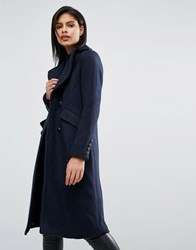 Vero Moda Military Style Tailored Coat Navy Blazer