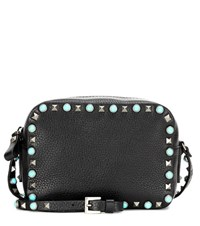 Valentino Rockstud Rolling Leather Crossbody Bag Black