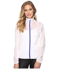 Brooks Lsd Jacket White Cobalt Women's Coat