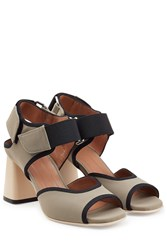 Marni Colorblock Sandals Grey