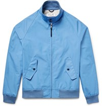 Golden Bear Poplin Bomber Jacket Light Blue