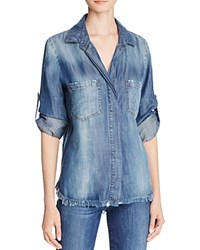 Bella Dahl Denim Split Hem Shirt Islay Wash