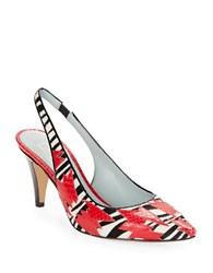 Marc Jacobs Sharon Animal Print Calf Hair Pumps Red