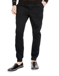 Kenneth Cole Stretch Cotton Jogger Pants Black