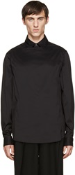 Wooyoungmi Black Front Panel Shirt