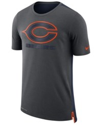 Nike Men's Chicago Bears Travel Mesh T Shirt Anthracite