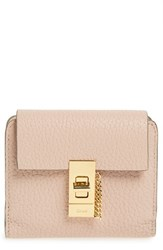 Chloe Women's 'Drew' Calfskin Leather Square Wallet Pink Cement Pink