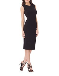 Js Collections Crewneck Sheath Dress Black