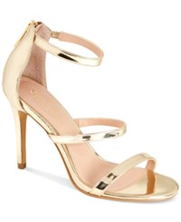 Charles By Charles David Ria Dress Sandals Women's Shoes Gold