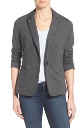 Olivia Moon Women's Knit Blazer Charcoal