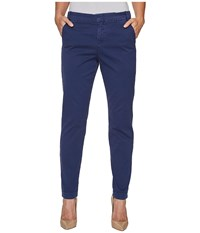 Nydj Clean Chino Republique Navy Women's Casual Pants Blue