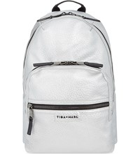 Tiba And Marl Elwood Changing Backpack Silver