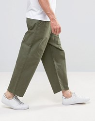 Dr. Denim Dr Melvin Wide And Cropped Jeans Utility Green Green