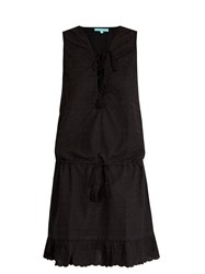Melissa Odabash Layla Embroidered Cotton Dress Black