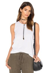 James Perse Wrap Back Tunic Top White