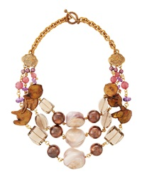 Stephen Dweck Three Strand Mixed Stone Necklace