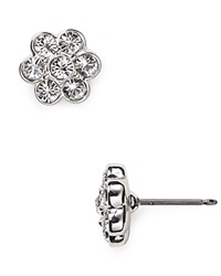 Carolee Floral Stud Earrings Clear