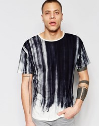 Nudie Jeans Nudie Loose Fit Crew Neck T Shirt Offwhite Black