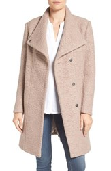 Kenneth Cole Women's New York Pressed Boucle Coat Mauve