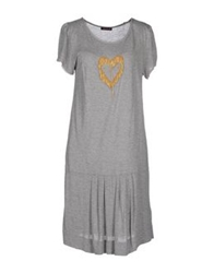 Angelina Knee Length Dresses Grey