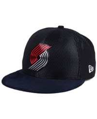 New Era Portland Trail Blazers On Court Collection Draft 59Fifty Fitted Cap Black Reflective Silver
