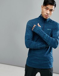 Marmot Harrier Baselayer 1 2 Zip Sweatshirt In Blue Denim Strike