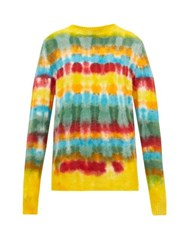The Elder Statesman Wacky Tie Dye Cashmere Sweater Multi