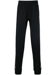 Off White Logo Tape Track Trousers Black