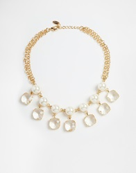 Coast Faux Pearl And Sparkle Necklace