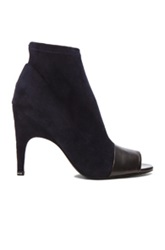 Acne Studios Vova Stretch Suede Booties In Blue