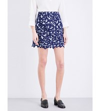 Sandro Loomy Lace Skirt Navy Blue