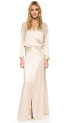 Mason By Michelle Mason Oversized Wrap Gown Oyster