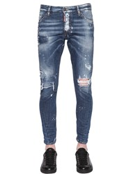 Dsquared 16Cm Sexy Twist Ripped Denim Jeans