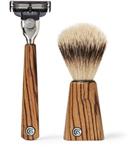 Czech And Speake Zebrano Wood Shave Set Brown