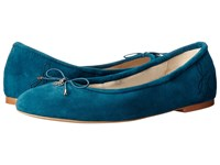 Sam Edelman Felicia Ocean Teal Kid Suede Leather Women's Flat Shoes Blue