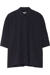 Maison Martin Margiela Oversized Chambray Shirt Navy